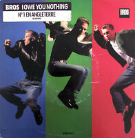 "Bros ‎7"" I Owe You Nothing  - French sticker - Europe (VG/EX)"