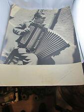 antica foto tiratura originale bianco e demilly fisarmonicista lione maugein