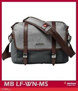 Manfrotto Windsor Camera Messenger Bag (Small, Gray) Mfr # MB LF-WN-MS