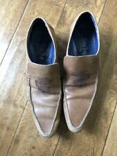 Mark Nason 67228 Mens 9.5 Dragon Tan Brown Leather Slip-On Loafers Shoes