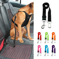 "Adjustable Nylon Dog Pet Car Vehicle Seat Safety Belt Clip  7 Colors 1.0"" Width"