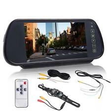 "7"" LCD Screen Car Rear View Backup Parking Mirror Monitor + Camera Night Vision"