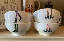 NEW Rae Dunn Halloween Wicked Witch Melamine Bowls Set of 4 HTF *FREE SHIPPING*