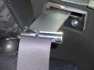 MG MGF MGTF CIRCULAR SOLID ALLOY SEAT BELT TIDY SET & GUIDE SET (BOTH SETS)
