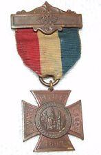 Antique U.S. Civil War 1883 GAR Womans Relief Corps Bronze Medal with Ribbon