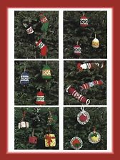Christmas Tree Decorations Knitting Patterns 6 patterns bells boxes DK 545