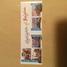 1 carnet de 5 timbres Belges , autocollant, Highlights of Belgium