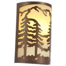 Rustic Antler Sconce Light Lodge Cabin Glass Shade Fixture 100-Watt Bulb Lamp