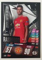 2020/21 Match Attax UEFA - Marcus Rashford Silver Limited Edition LE3S Mancheste