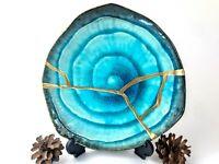 Kintsugi Plate - Blue Bronze Large