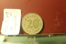 Malaysia 1969 (EF) & 1978 (AU)  20 sen semi keydate 2 pieces