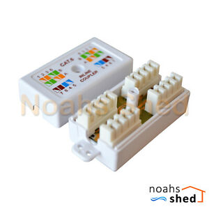 CAT6 Joiner UTP IDC Punch Down Inline Unshielded Cable Coupler Connection Box