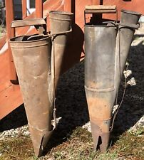 Pair Of Early 1900s Antique Primitive Plant Setter Seeder Masters Steam Punk