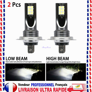 2X Ampoules H7 LED 110W 6000K anti erreur Voiture Feux Phare Lampe Xénon Blanc