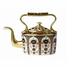 Royal Crown Derby 1st Quality Old Imari Solid Gold Band Large Kettle Boxed