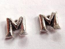 """The Letter """"M"""" Stud Earrings 925 Sterling Silver Corona Sun Jewelry m"""