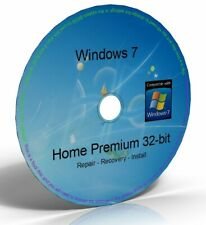 Windows 7 Home Premium 32 Bit Boot Disc, Reinstall Disc, Repair Disc (CD/DVD)