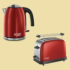 Russell Hobbs Set Colours Plus+ Flame Red - Wasserkocher 1,7 Liter + Toaster