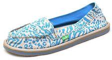 Sanuk SHORTY LEPPATYGA Blue Beige Sidewalk Surfers Shoes Women's 8  NEW  SWF1172