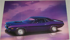 1970 Dodge Challenger RT 2 dr ht car print (purple & black)