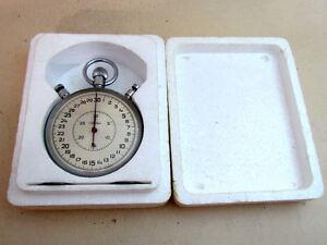 SLAVA Sport Split STOPWATCH Mechanical Chronometer Vintage USSR Original Box