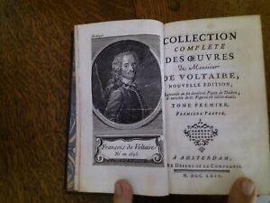 Collection complète des Oeuvres de M. Voltaire-tome1 -1764