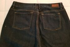 Liz Claiborne Women's Dark Wash Stretch Straight Leg Jeans Size 12