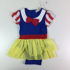 Baby Girls Snow White Costume One Piece Bodysuit Size 80 cm 12 18 Months Snaps