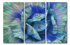 Abstract Modern Floral Metal Artwork Wall Sculpture Painting Home Decor