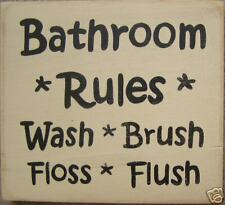 BATHROOM RULES Wash Brush Flush HP Kids SIGN PLAQUE