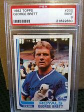 1982 Topps # 200 George Brett PSA Mint 9 ** 4 CARD LOT ** ROYALS ** RB-5374