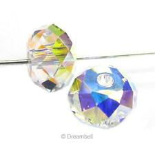 Swarovski Crystal Elements 5040 Bead RONDELLE Spacer Many Color & Size  #1