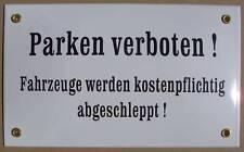 Parken verboten ! Email Hinweis Schild Emailschild Emailleschild 25 x 15 cm