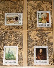 CONGO KONGO 1978 657-60 474-77 DELUXE Albrecht Dürer Paintings Gemälde Kunst MNH