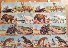 # GLANZBILDER # schöner alter Doppelbogen / Großbogen EAS 3113 Wild-Tiere 1940's
