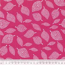 Blätter Nopp pink Stoff Baumwolle Blumen Patchwork Lotta Jansdotter Mormor