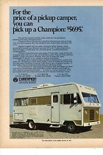 Original 1971 Champion Motor Home Magazine Ad