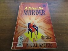 A Talent for Murder Anna Mary Wells 1942 Mystery Novel 122915ame