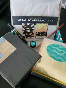 Darby Smart DIY metallic abstract art gilding project kit