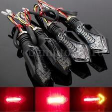 4x Motorcycle LED Turn Signal Indicator Blinker Brake Light Red Amber US