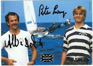 Albert Batzill & Peter Lang (Segeln - Flying Dutchman), sign. AK