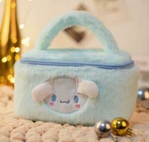 Cinnamoroll fuzzy Plush Makeup Box Cosmetic Bag Beauty Case handbag fashion