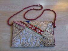 Vintage Indian Traditional Multicolor Rajasthani Traditional Handbag Purse Sling