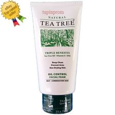 Tea Tree Natural Oil Control Facial Foam Deep Cleanser Face Wash Skin Acne 140ml