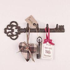 Metal Key Holder Wall Mounted Hat Coat Hook Hanger Storage Shabby Chic Vintage