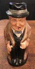 "Vtg Royal Doulton Winston Churchill 5 1/2"" Toby Creamer Pitcher Mug Jug Numbered"