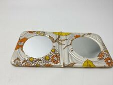 vintage groovy flower power double compact mirror