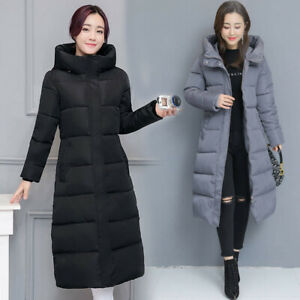 Women Winter Coat Down Jacket Ladies Hooded Jackets Long Puffer Parka Warm Gift