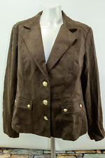 Hot in Hollywood Womens Chocolate Brown Suit Jacket Large Lined NWT