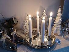 Kerzentablett Spiegel Nickel Miss Étoile Kerzenhalter Adventkranz Silber Tablett